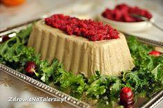 Pasztet ze słonecznika i kaszy jaglanej Happy Easter, Vanilla Cake, Pesto, Camembert Cheese, Healthy Snacks, Cheesecake, Lunch, Vegetables, Cooking