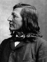 "Luther Standing Bear, born in Pine Ridge; Joined Buffalo Bill's wild west show; Author of ""Land of the Spotted Eagle"""