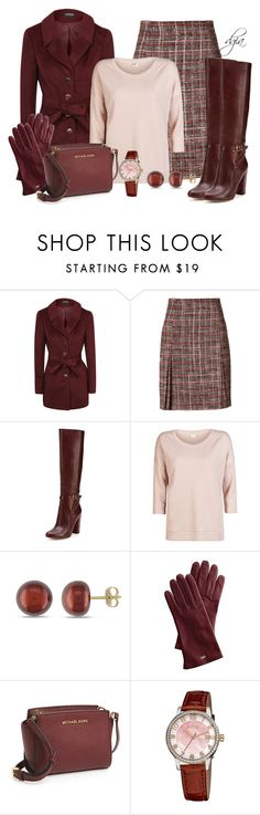 """""""AKRIS Wool Boucle Tweed Skirt"""" by dgia ❤ liked on Polyvore featuring Akris, Ava & Aiden, ONLY, Miadora, MICHAEL Michael Kors, August Steiner, women's clothing, women's fashion, women and female"""