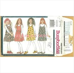 Busybodies 3775 Sewing Pattern Girl's Jumper & Top Size S M L 7 8 10 12 14 Used 031664205746 on eBid Canada