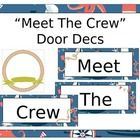 "This listing is for a nautical themed back to school door decs. The Sign says ""Meet The Crew"" and then there are 6 pages of frames to insert each s..."