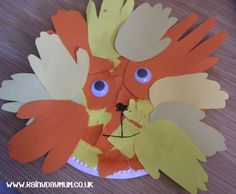 Paper Plate Lion Craft (from Rainy Day Mum)