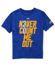 Under Armour Boys' Stephen Curry Never Count Me Out T-Shirt
