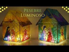 Como Hacer un Pesebre Luminoso con Tapas de Cd´s y Laca Vitral - YouTube Christmas 2017, Christmas Crafts, Recycled Cds, Diy Nativity, Birth Of Jesus, Diy Recycle, Diy Weihnachten, Mosaic Glass, Stained Glass