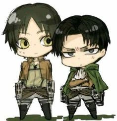 XD attack on Titans levi and Aaron
