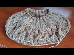 Джемпер. Круглая кокетка из аранов. Часть 6. Кокетка 31- 40 ряды. - YouTube Knitting Designs, Knitting Patterns Free, Free Knitting, Crochet Patterns, Baby Booties Knitting Pattern, Knit Cardigan Pattern, Knitting Videos, Knitting Yarn, Crochet Wool