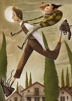 Jesús Aguado vuelve 'Con las botas puestas' a la serie El Duende Verde de Anaya · Jesús Aguado illustrates 'Con las botas puestas', published by Anaya.