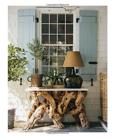 Beautiful Driftwood Console  Amazon.com: Steven Gambrel: Time and Place (9781419700682): Steven Gambrel: Books