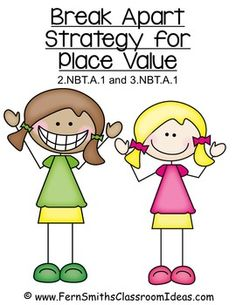 Quick and Easy Center and Printables - Break Apart Strategy for Place Value 3.NBT.A.1 {An additional resource for Go Math, Third Grade, Chapter One.} #TPT $Paid