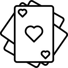 Playing Cards free vector icons designed by Freepik Cute Little Drawings, Cute Easy Drawings, Cool Art Drawings, Outline Drawings, Pencil Art Drawings, Easy Drawings Sketches, Minimal Drawings, Kawaii Drawings, Glitter Wall Art