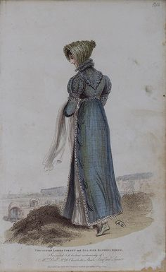 "1814 ""Circassian ladies corset and sea side bathing dress."""