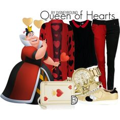 Queen of Hearts by leslieakay on Polyvore featuring WearAll, Slater Zorn, Twin-Set, Charlotte Olympia, Michael Kors, Bling Jewelry, T Tahari, disney, disneybound and plus size clothing