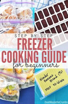 This freezer cooking guide is awesome! It walks you through the concept of freezing cooking, how to come up with a plan and how to carry it out so you FINALLY can get ahead in the kitchen each week!! :: DontWastetheCrumbs.com
