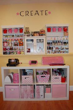 Love This!! I can't Wait Until I Can Have My Own Craft Room