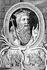 King Malcolm III of Scotland 1031 - 1093 married to St Margaret of Scotland.Parents of Matilda of Scotland,wife of Henry I, King of England. _____________________________29th and 30th Great Grandfather