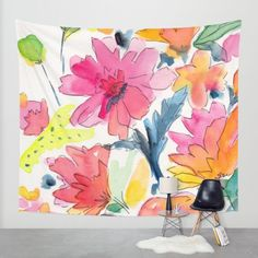 Buy Floral watercolor illustration pattern Wall Tapestry by Laura Dro. Worldwide shipping available at Society6.com. Just one of millions of high quality products available.