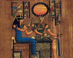8x12 Papyrus Art - Egyptian Hand Painted Signed Genuine Papyrus Painting - Pharaonic Vintage Collectible - Home Or Office Decor (PAP913-010)