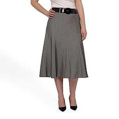 zac & rachel woman- -Women's Plus Belted Flair Skirt