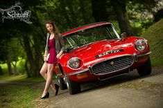 Jaguar E Type Series III 2+2, who do you want race off, the girl or the car?