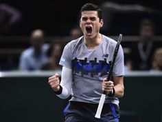 """10/31 MILOS 1ST CANADIAN IN HISTORY TO DEBUT AT ATP FINALS! Milos Raonic Beat Roger Federer For The 1st-Time In His Career!  Milos shocked World #2 Roger Federer 7-6 (5), 7-5 in their QFs match at the Paris Masters. Better news, Milos qualifies for #ATPFinals season-ending Championships for the 1st-time in his career. MILOS: """"There is a lot more — I've got to keep going and finding a way to win."""" He was promoted to the #eliteeight with help from Kei Nishikori who upset David Ferrer in the…"""