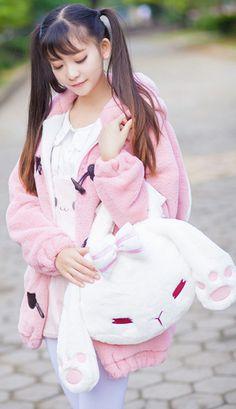 Adorable soft plushie bunny handbag