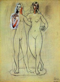 Pablo Picasso. Deux nus féminins 1920