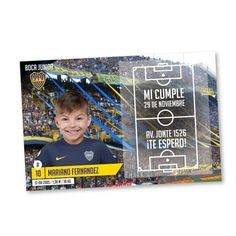 Boca Juniors Fútbol // invitaciones personalizadas en internet Toy Story, Baby Shower, Invitations, Birthday, Party, Kids, Inspiration, Soccer Ball, Ideas Para