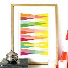 Spring Collection Poster Geometric triangle by PeanutoakPrint, $23.00