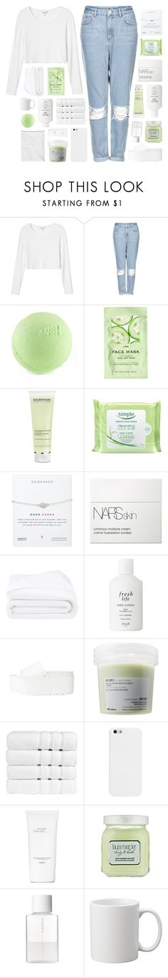 """SOME FAIRYTALE BLISS"" by feels-like-snow-in-september ❤ liked on Polyvore featuring Monki, Topshop, H&M, Darphin, Simple, NARS Cosmetics, Frette, Fresh, Davines and Christy"