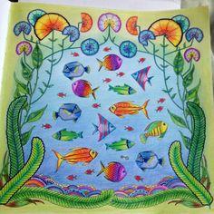Coloring# Johanna Basford#Lost Ocean