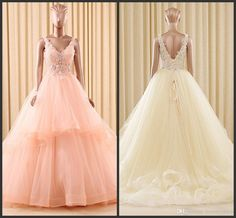Beading Wedding Gown Deep V Neck Backless Sexy Wedding Sleeveless Appliques Elegant Count Train Custom Made Beautiful High Quality Sexy Photos Of Dresses Pictures Of Wedding Gowns From Lovemydress, $133.87| Dhgate.Com