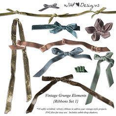 Vintage Grunge Ribbons