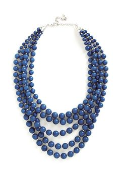You Bijou Necklace in Sapphire. Express your signature style by accessorizing your sheath dress with this cobalt statement necklace! #blue #modcloth