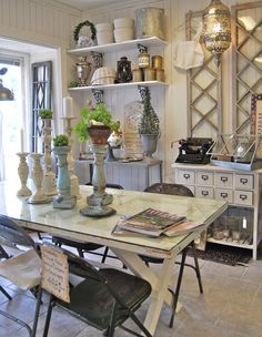 Love the whole look.and the door table is genius!