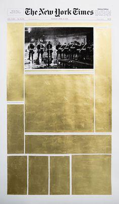 From Kalfayan Galleries, Panos Tsagaris, April 28 2015 Gold leaf on archival inkjet print, 150 × 90 cm Art Design, Cover Design, Layout Design, Graphic Design Illustration, Graphic Art, Illustration Art, Editorial Layout, Editorial Design, Layout Inspiration
