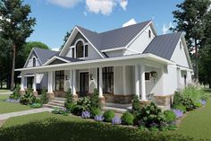 Layout new house plans, dream house plans, country house plans, house flo. House Plans One Story, Country House Plans, Best House Plans, Country Style Homes, Dream House Plans, Story House, Dream Houses, One Story Homes, Southern Style