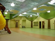 Each school has its own personality! Tectum acoustical panels are tough and abuse resistant, not to mention easy to install and integrate with your building's designs.