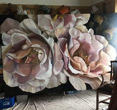 OPUS ROSE oil on linen Diana Watson commission for client in USA…. Art Floral, Botanical Art, Painting Inspiration, Flower Art, Watercolor Paintings, Rose Paintings, Art Projects, Canvas Art, Artwork