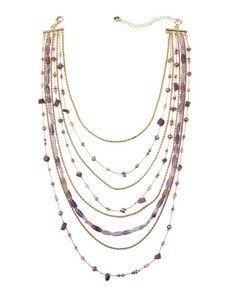 Mixed Chain & Bead Layered Necklace
