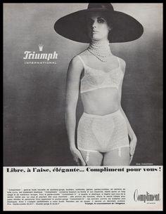 f7012da85 1965 Original Triumph Lingerie Bras AD Vintage Advertising