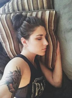 """""""Bae totally caught me sleeping. That's totally not my arm holding the camera. TOTALLY I SWEAR."""" - @AllyHills ♥"""