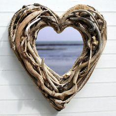 Driftwood heart mirror. Luv this!