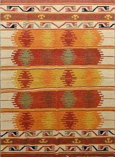 Traditional Moroccan Kilim Rug Flat Woven Wool Berber Carpet 5 x 8 Area Rug