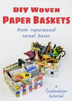What to do with empty cereal boxes? This upcycled cereal box DIY is so easy to make and you won't need to spend any money!