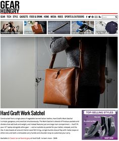Constructed from a single piece of vegetable-tanned Italian leather, Hard Graft's Work Satchel is simple, gorgeous, and practical simultaneously.