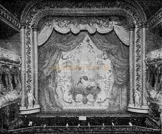 The Procenium and Curtain of the Prince of Wales Theatre, Birmingham in 1901 - Compare this to the 1929 image - from 'The Playgoer' 1901 - Courtesy Iain Wotherspoon