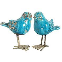 Teal Decor Birds The Gilded Lily I Love These Li L Birds Though