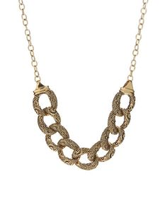Loving the Bronze Filigree Chain Necklace #zulilyfinds and its chunky metal links!  Bronze?  AWESOME!!!