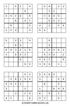 Free Printable Sudoku Puzzles for kids Sudoku Puzzles, Printable Puzzles, Logic Puzzles, Printables, Free Printable, Math Games For Kids, Puzzles For Kids, Brain Teasers, How To Memorize Things