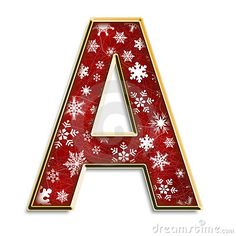 Alfabeto navideño con letra mayúsculas. Letra A. Vocal.